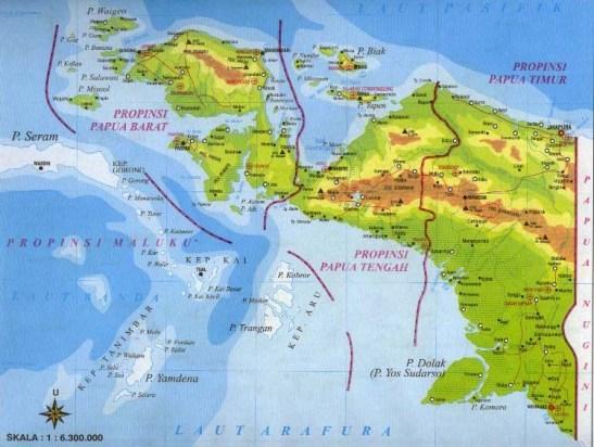Image result for peta papua lengkap terbaru